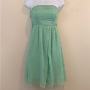 J. Crew Strapless Fully Lined Mint Green Dress